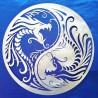 Yin Yang avec Dragons