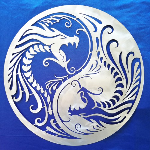 Yin Yang with Dragons
