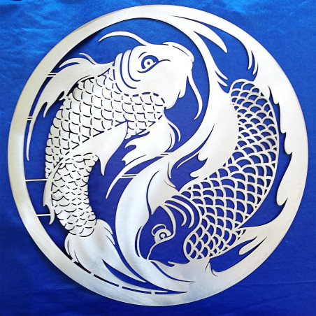 Yin Yang with Koi Carps