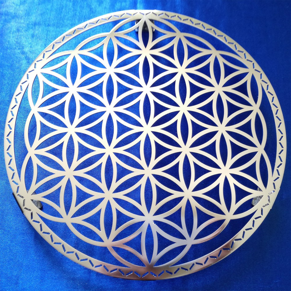 Food Support with Flower of Life - INOX