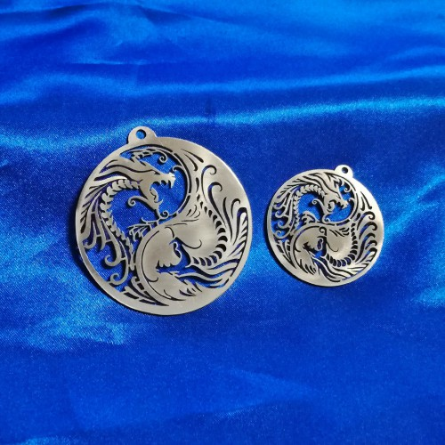 Yin Yang with Dragon Pendant
