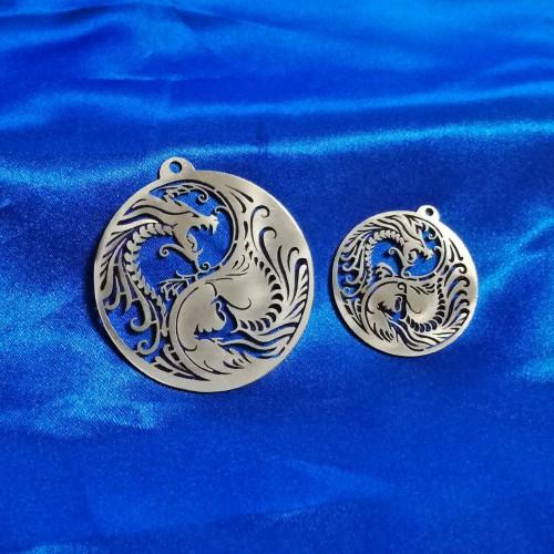Ciondolo Yin Yang con Dragoni