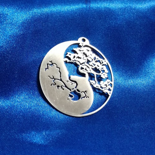 Yin Yang with Bonsai Pendant