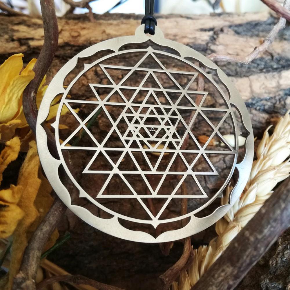Sri Yantra Round Frame Pendant