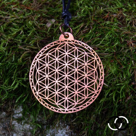 Flower of Life of Abydos Pendant - COPPER