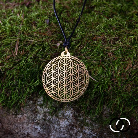 Flower of Life of Abydos Pendant - BRASS