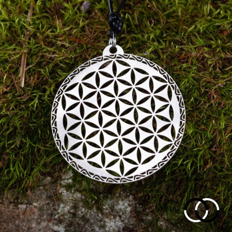 Flower of Life of Abydos Pendant POSITIVE